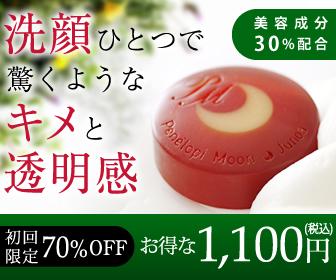 歴史から学ぶ特別1,100円の洗顔石鹸【ペネロピムーン・ジュノア】