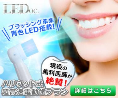 青色LED付き超高速回転電動歯ブラシ【LEDoc】アップ大作戦